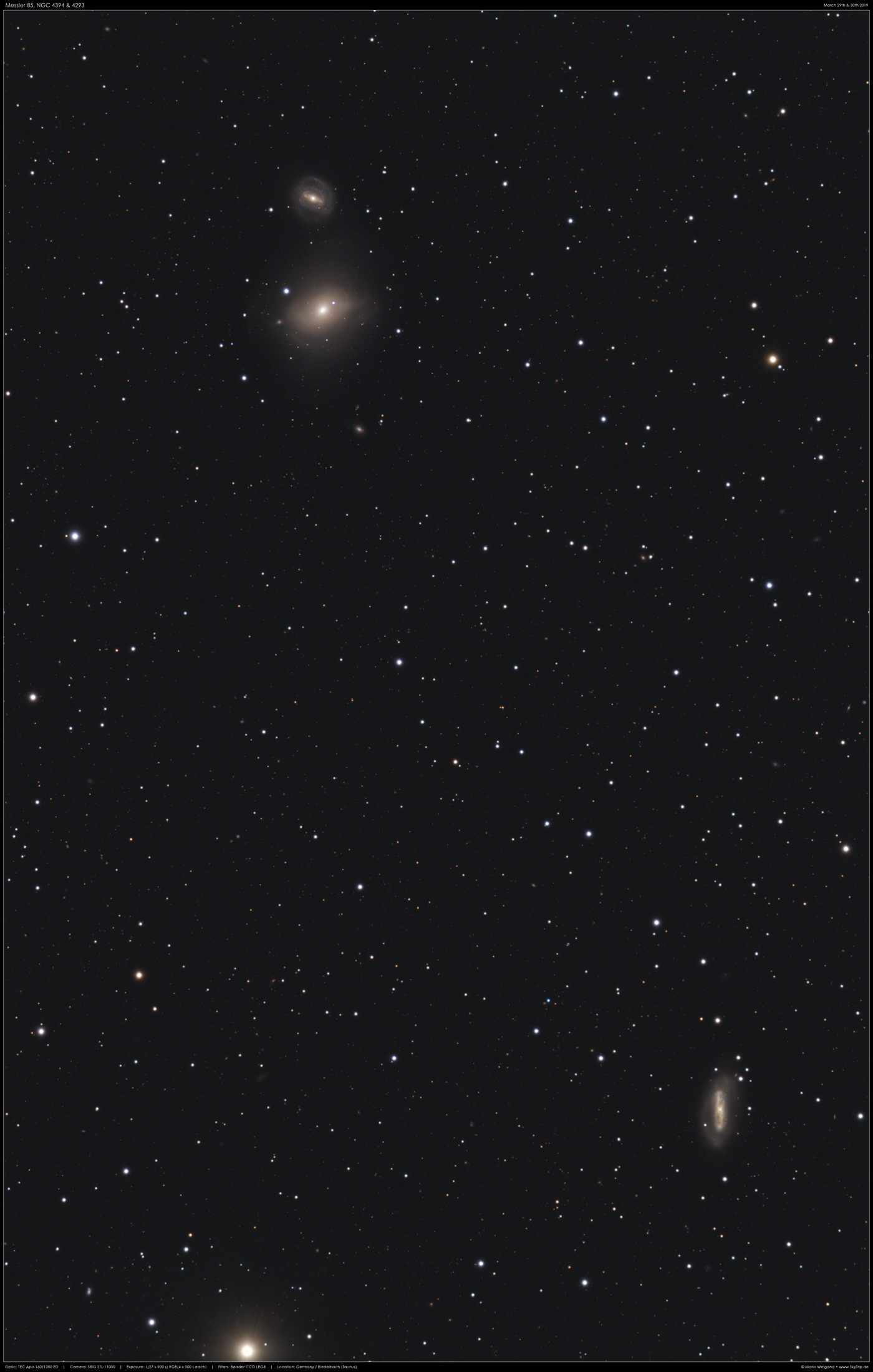 Galaxie Messier 85, NGC 4394 & 4293