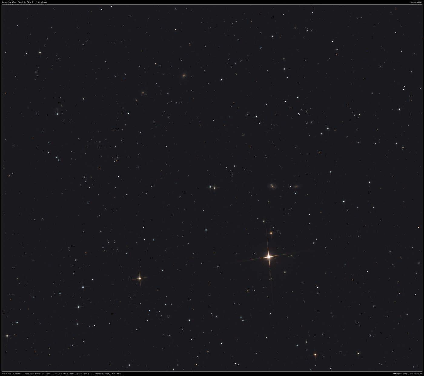 Messier 40 • Doppelstern in Ursa Major