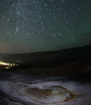 Airglow über Yellowstone