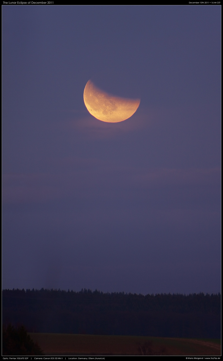 Totale Mondfinsternis am 10. Dezember 2011